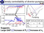 density controllability of divertor pumping