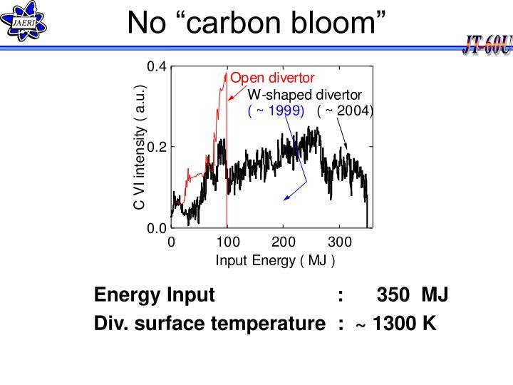 "No ""carbon bloom"""