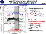 wall saturation identified in long pulse operation