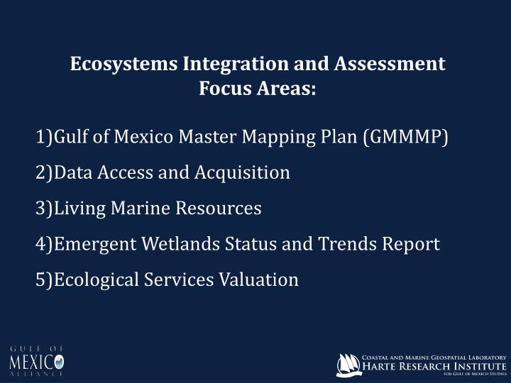 Ecosystems Integration and Assessment