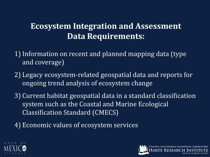Ecosystem Integration and Assessment