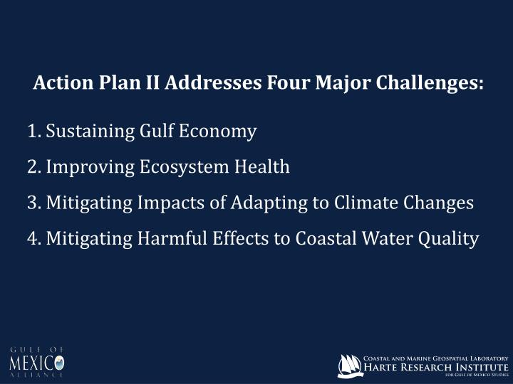Action Plan II Addresses Four Major Challenges: