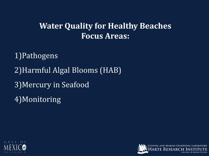 Water Quality for Healthy Beaches