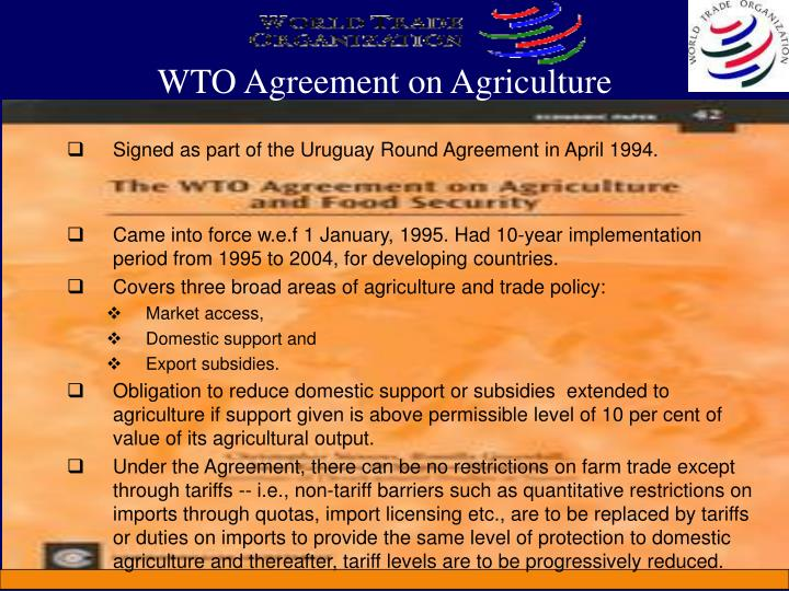WTO Agreement on Agriculture