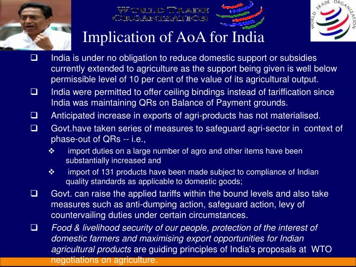 Implication of AoA for India