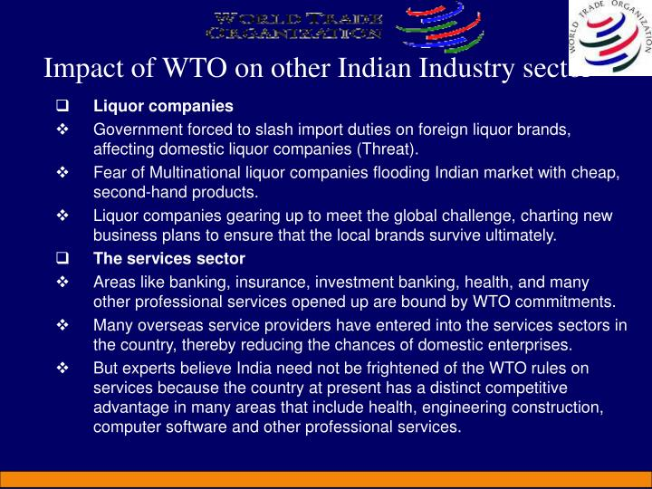Impact of WTO on other Indian Industry sector