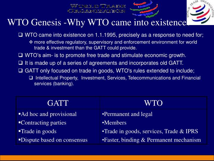 WTO Genesis -Why WTO came into existence?
