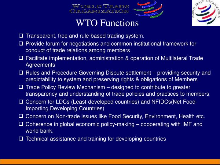 WTO Functions