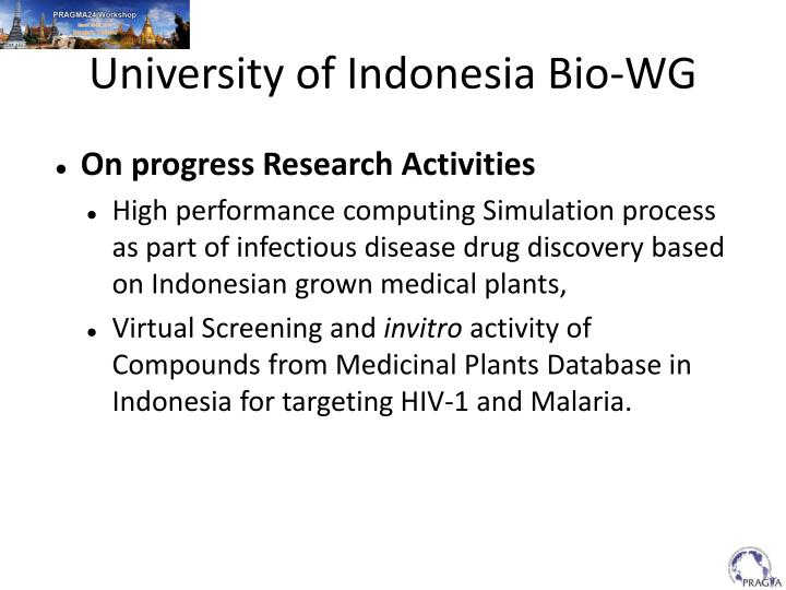 University of Indonesia Bio-WG
