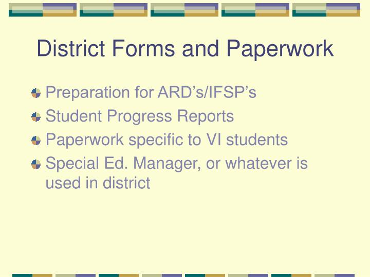 District Forms and Paperwork
