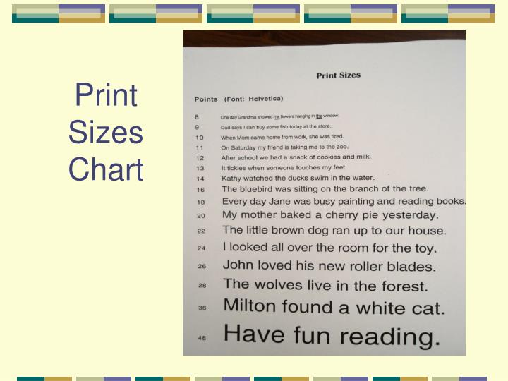 Print Sizes Chart