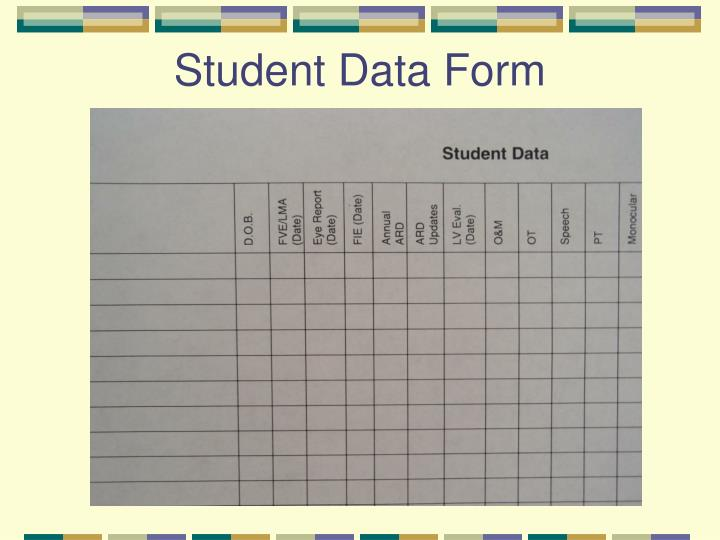 Student Data Form