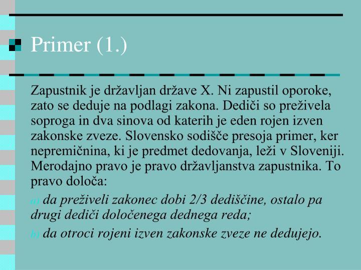 Primer (1.)