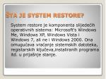 ta je system restore