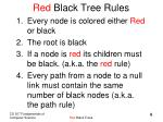 red black tree rules