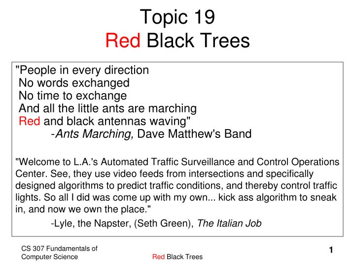 Topic 19 red black trees
