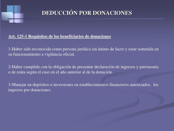 DEDUCCIÓN POR DONACIONES