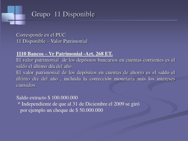 Grupo  11 Disponible
