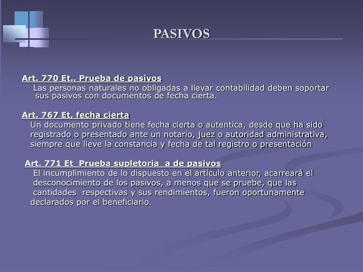 PASIVOS