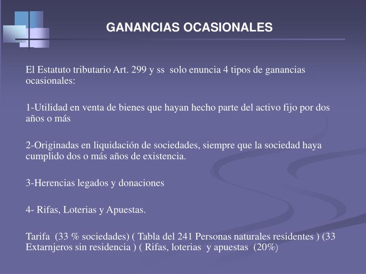GANANCIAS OCASIONALES