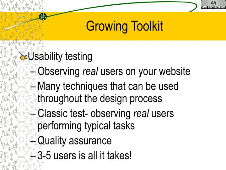 Growing Toolkit
