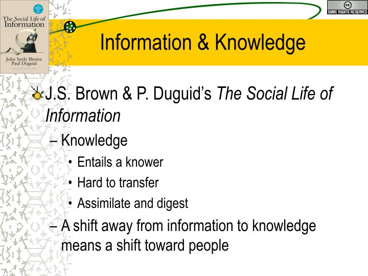 Information & Knowledge
