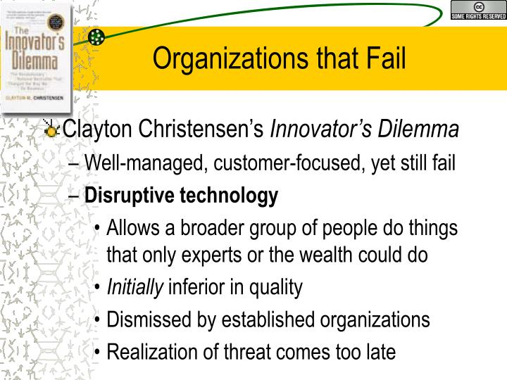 Organizations that fail