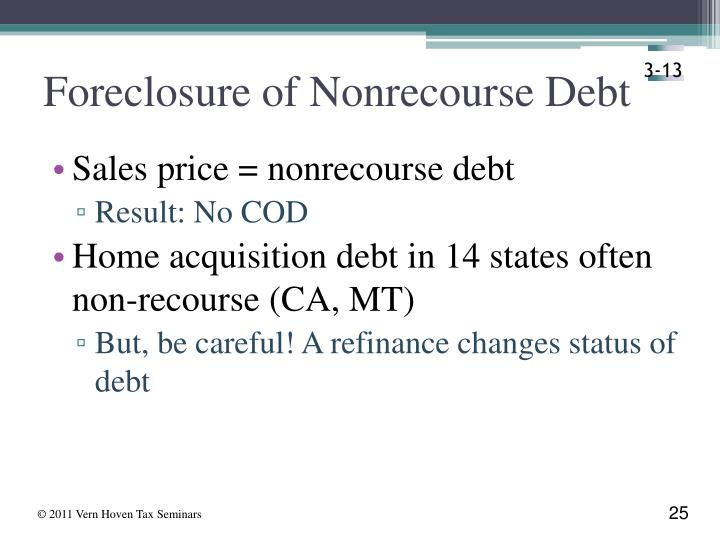 Foreclosure of Nonrecourse Debt