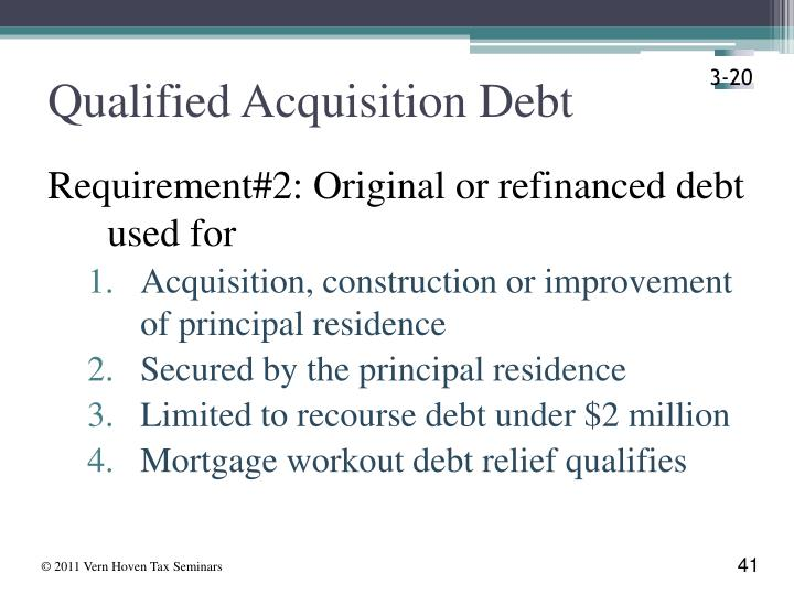 Qualified Acquisition Debt