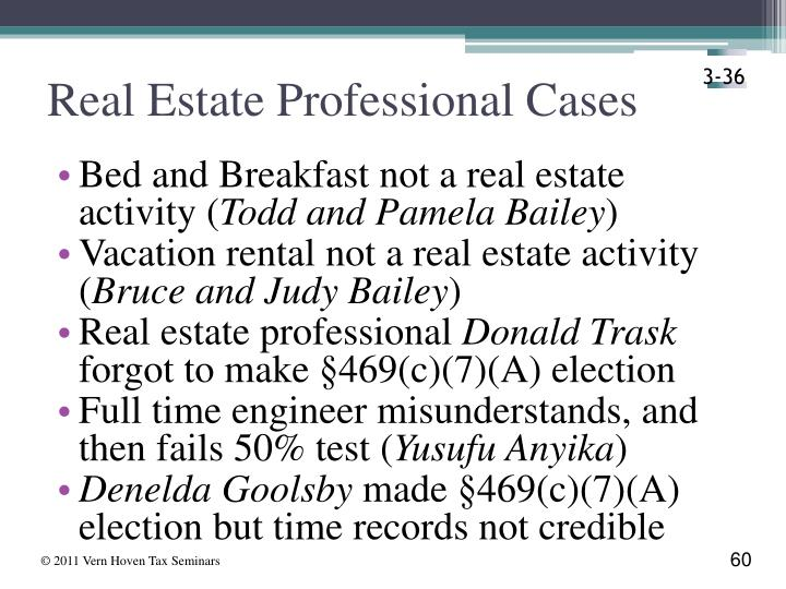 Real Estate Professional Cases