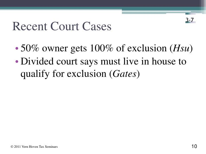Recent Court Cases