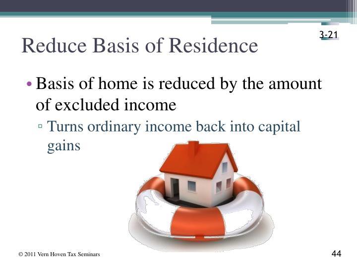 Reduce Basis of Residence