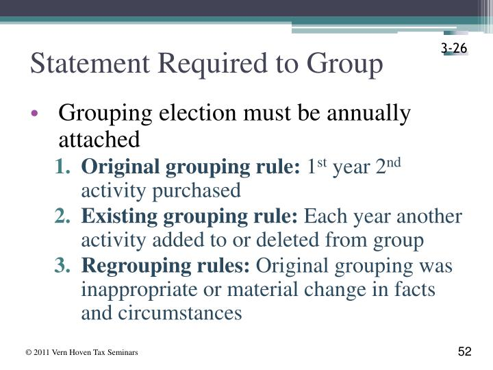 Statement Required to Group