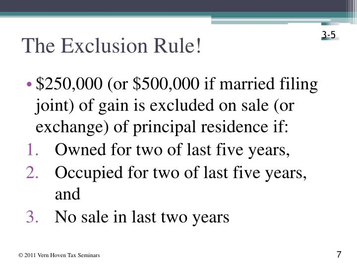 The Exclusion Rule!