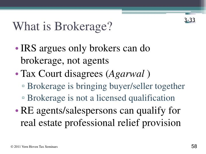 What is Brokerage?