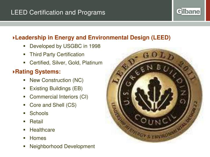 Leed certification and programs