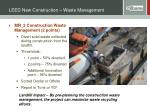 leed new construction waste management