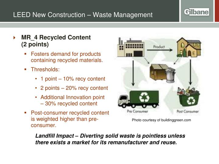 LEED New Construction – Waste Management