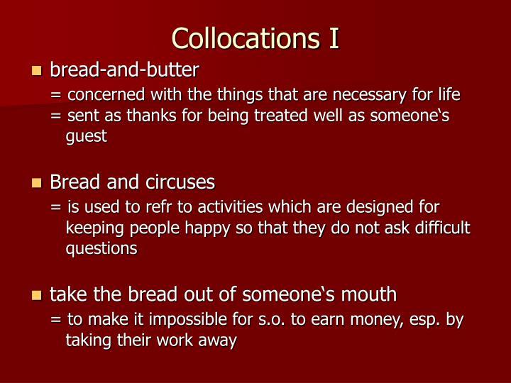 Collocations I