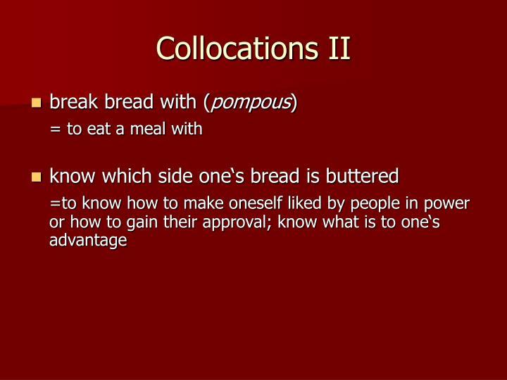 Collocations II