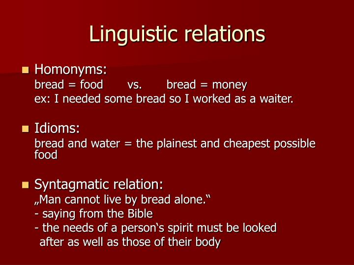 Linguistic relations