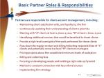 basic partner roles responsibilities