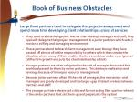 book of business obstacles1