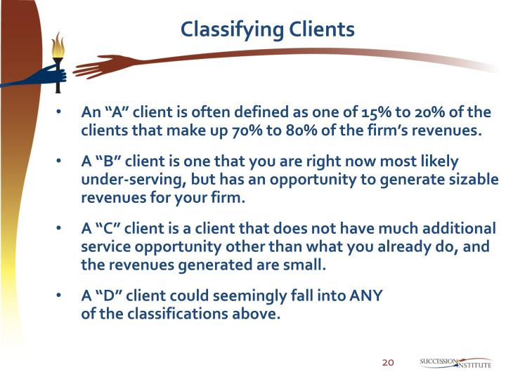 Classifying Clients