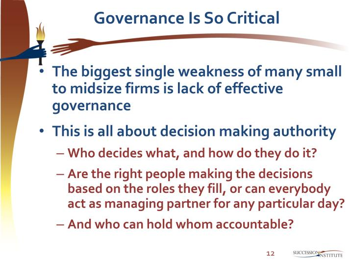 Governance Is So Critical