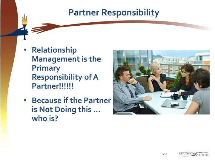 Partner Responsibility