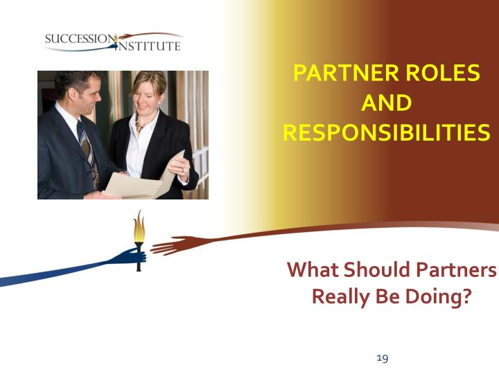 Partner Roles and Responsibilities
