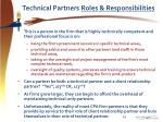 technical partners roles responsibilities
