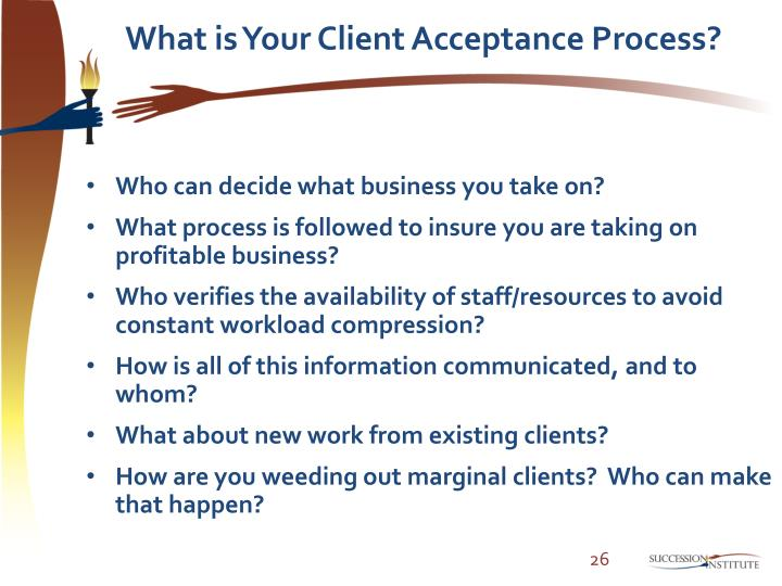 What is Your Client Acceptance Process?