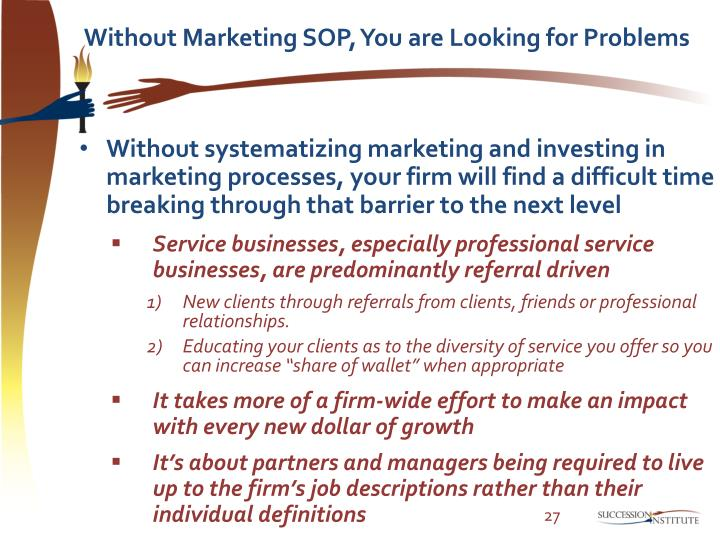 Without Marketing SOP, You are Looking for Problems